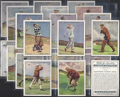 Wills-Full Set- Famous Golf Ers (L25 Cards) - All Scanned