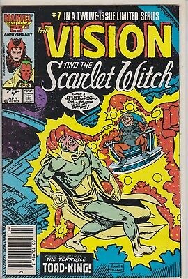 The Vision And The Scarlet Witch Apr #7 Marvel Comic Book (1986)