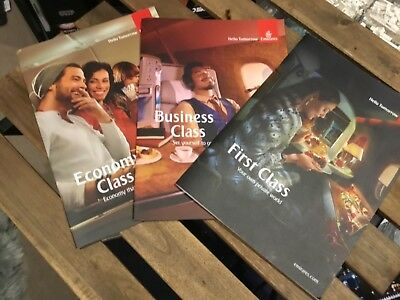 Emirates ( Qantas Partner) First Business Ecomony Information Books set of 3