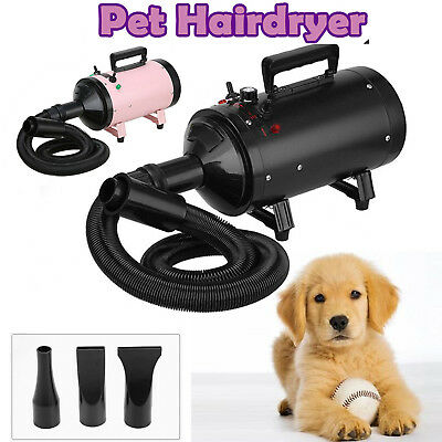 Dog Cat Pet Grooming Blow Hair Dryer Quick Dry Hairdryer Bath Heater Portable UK