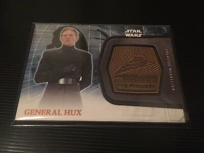 Star Wars The Force Awakens Topps General Hux Galactic Medallion Card