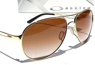 NEW* Oakley CAVEAT Gold 60mm Aviator VR50 Brown lens Women's Sunglass 4054-01