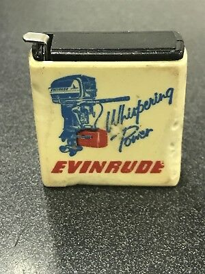 Vintage Evinrude Outboards Advertising Miniature Tape Measure Rule
