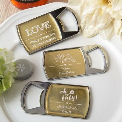 100 Personalized Bottle Openers Wedding Bridal Baby Shower Birthday Party Favors