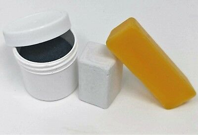 Paper Sharpening Wheels Maintenance Kit - 120 Grit, Bees Wax, & Buffing Compound