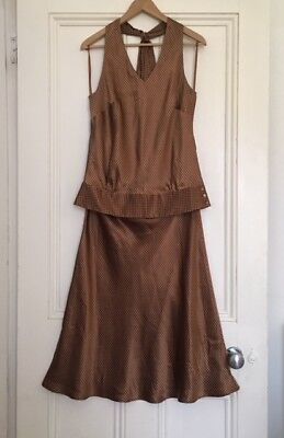 Beautiful Brand New 100% Silk Coast Halter Neck and Skirt Outfit Size 14