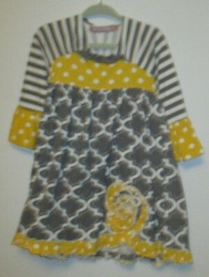 Euc 2T Girls Boutique Jelly The Pug Long Sleeve Dress