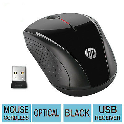 HP X 3000 2.4GHZ Wireless Optical Computer Mouse Mice with Micro Receiver Black