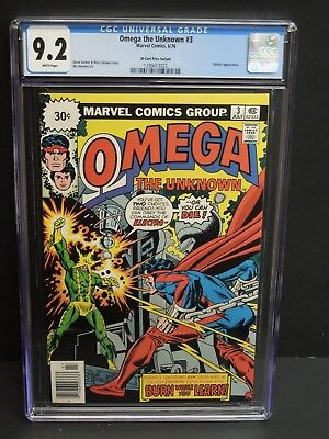 Marvel Omega The Unknown #3 1976 Cgc 9.2 White Pages 30 Cent Price Variant