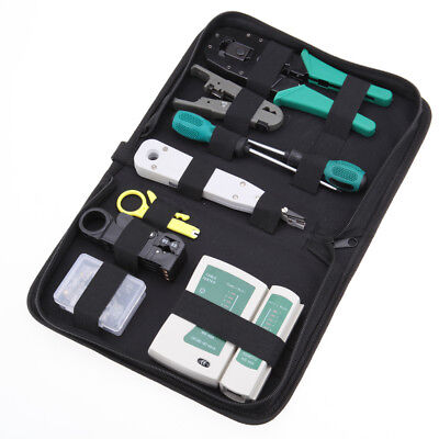 Network Ethernet LAN Kit RJ45 Cat5e Cat6 Cable Tester  Crimping Tool Tool Kit