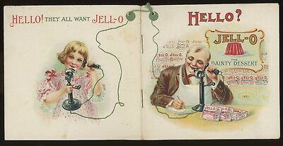 1910  JELL-O ADVERTISING BOOKLET ( Beautiful Color Litho Printing )