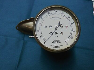 Antique Solid Brass Stewart & Clark Speedometer model No.11 Ford Model T B154581