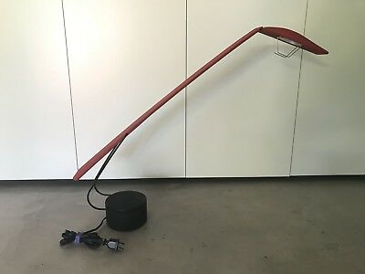 Post Modern Red Italian PAF Dove Columbo Barbaglia Light Lamp Working As Is