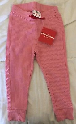 NWT Hanna Andersson Ribbed Cropped Pants, Size 100 / 4. Retail $25! Comfy