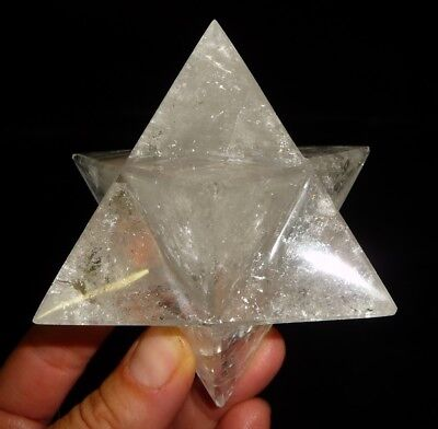 DINO: XL Clear A Grade QUARTZ CRYSTAL STAR DODECAHEDRON 202 gr. Sacred Geometry