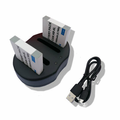 2xBattery or charger for Canon NB-6L /NB-6LH SX280 HS SX260 HS SX500 IS D20 S95