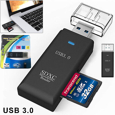 USB 3.0 SD Memory Card Reader 2 in 1 SDHC SDXC MMC Micro SD Mobile T-FLASH TF