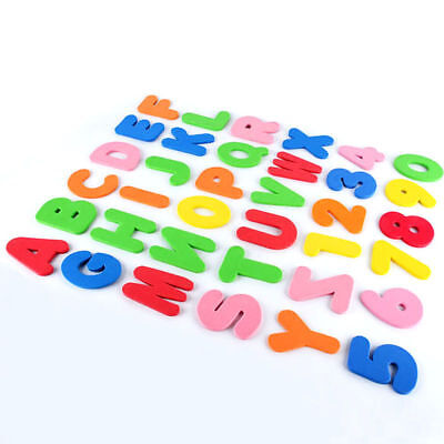 36Pc Foam Bath Numbers And Letters Tile Child Baby Kids Bath Toy Water Fun Uk