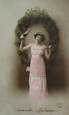 Rare Carte Postale Bouteille Champagne Mercier Epernay