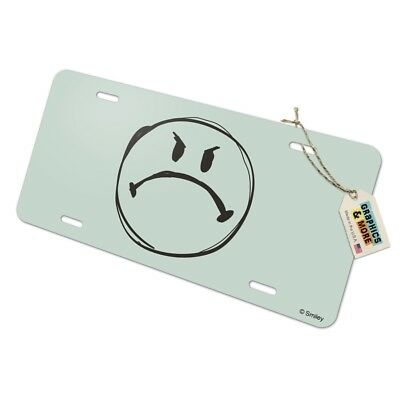 Mad Angry Cursing Smiley Face with Black Eye Officially Licensed Satin Chrome Plated Metal Money Clip