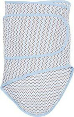 Miracle Blanket Swaddle, Chevrons with Blue Trim