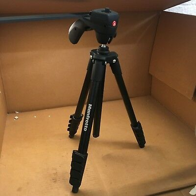 232P314 Manfrotto MKCOMPACTACN-BK Compact Action Tripod (Black)