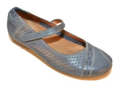 TAOS Step It Up Leather Flats Mary Jane Women's Blue Shoes Size  US 7-7.5 Eur 38