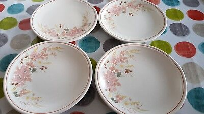 4 x BOOTS Hedge Rose Side Plates 7.5""