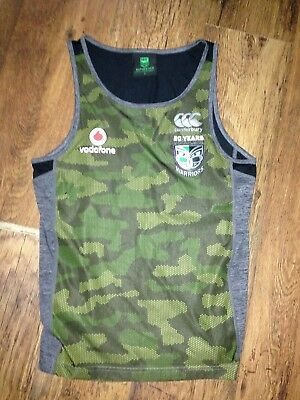 """Mens New Zealand Warriors NRL training vest size small 36"""" chest"""