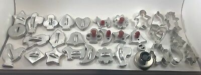 Vintage Aluminum Cookie Cutters Lot