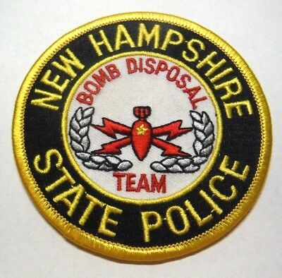New Hampshire State Police Bomb Disposal Team Patch Unused