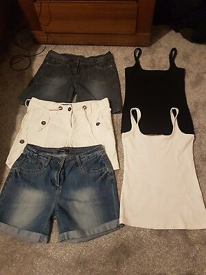 Womens Shorts X3 worn few times And Vest Tops(worn once) Next And George Size 8