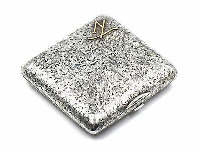 IMPERIAL RUSSIAN CARD CIGARETTE CASE COMPACT 875 SILVER MIKHAIL MASLOV c1890