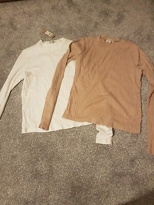 Womens River Island Tops X2 Worn Once And Other New With Tags Size 8 rrp£10 each