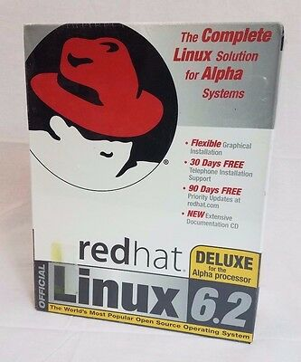 NEW Linux Red Hat 6.2 Deluxe Computer Software Windows Server PC SEALED