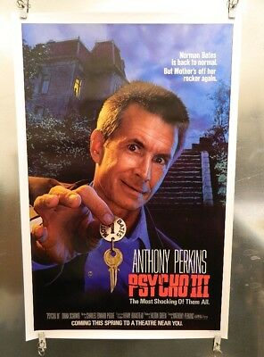 Original Psycho III Movie Poster 1985 Rolled SS