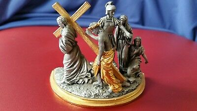 Sculpture The Stations Of The Cross The Franklin Mint