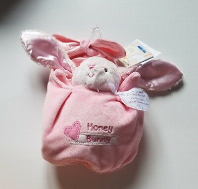 Infant Girls Kids Preferred Brand Pink Tan Honey Bunny Special Delivery Bell