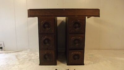 Gorgeous Full Set of Drawers from Antique Singer Treadle Sewing Machine Right &