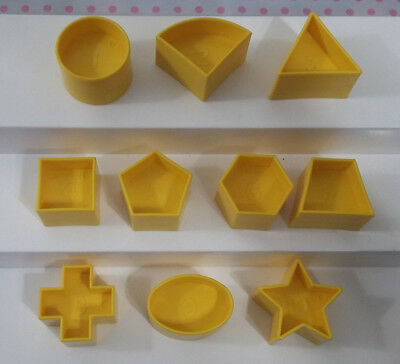Tupperware Tuppertoys Shape O Ball Replacement Parts Complete Set Shapes 1 - 10