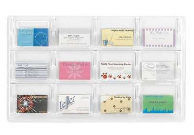 """Business Card Display 12 Compartments, 30""""W x 1-1/2""""D Clear SAFCO 5618CL"""