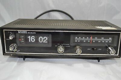 Vintage Retro Binatone Digimatic Flip Clock Radio Alarm Untested ##RUGd2jw