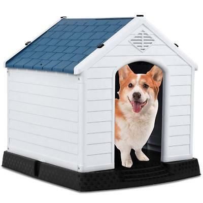 Waterproof Non-Toxic PP Dog Cat Kennel Puppy House Outdoor Shelter S M L SIZE