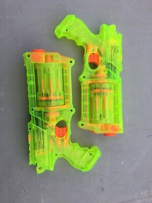 Nerf Maverick REV-6 N-STRIKE Dart Gun Cleat Green Pistol Handgun Lot Of 2