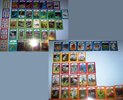 65 Mixed lot RSPCA Pets & Creatures Trading Cards; includes Check Lists Legends