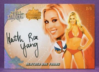BenchWarmer 2015 National Archive Heather Rae Young 2014 BRONZE FOIL AUTO #D 3/5