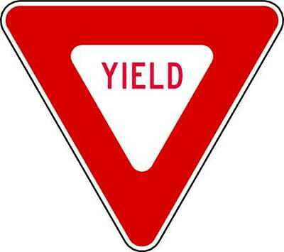 Traffic Sign,12 x 12In,R/WHT,Yield,R1-2 LYLE R1-2-12HA