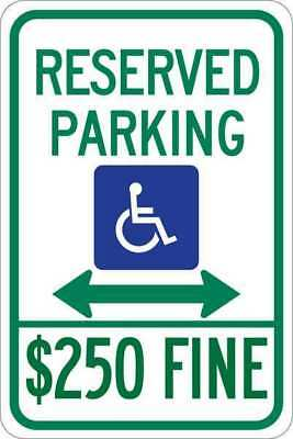 Parking Sign,18 x 12In,Grn and Blue/Wht BRADY 123888