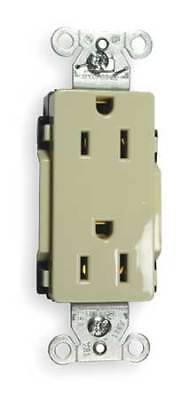 HUBBELL WIRING DEVICE-KELLEMS DR15I 15A Duplex Decorator Receptacle 125VAC