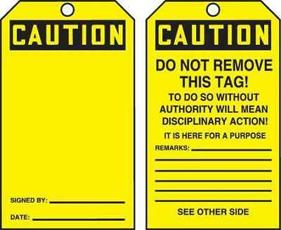 ACCUFORM TAR156 Caution Tag By The Roll,6-1/4 x 3,PK250